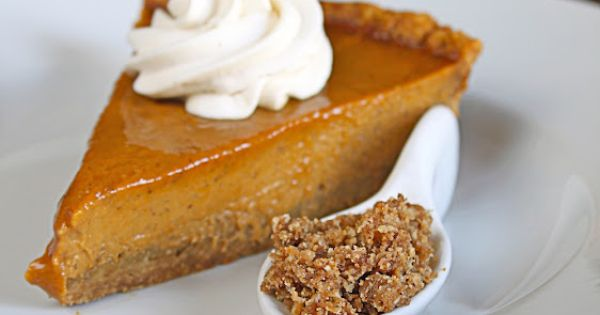 Pumpkin Pie with Cinnamon Crunch and Bourbon-Maple Whipped Cream | pie ...