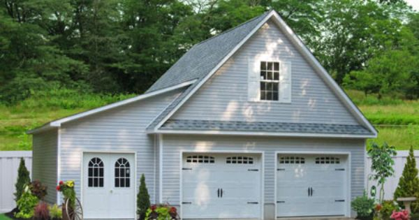 Two Car Garages From The Amish In Pa: Two Car Garage With A Lean-To. Buy This 24x24 Garage With