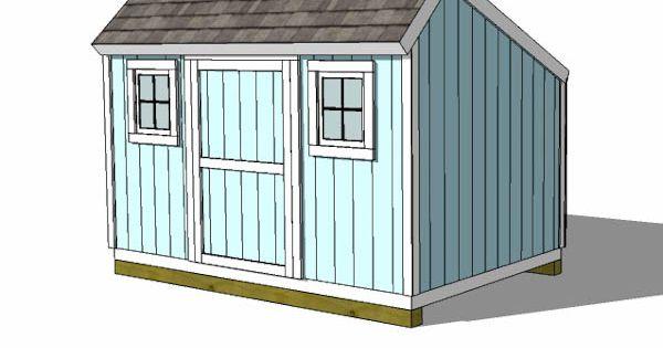8x12 salt box shed plans with windows 8x12 shed plans for Salt shed plans