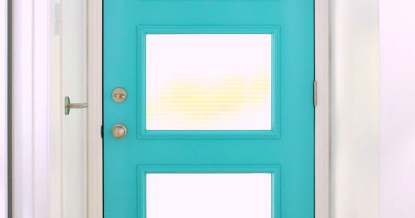 A mid century modern inspired front door with special for Front doors that let in light