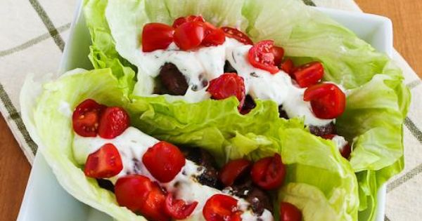 South Beach phase 1 recipes - Ground Beef Gyro Meatball Lettuce Wraps