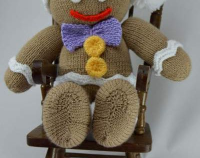 Gingerbread Man Knitting Pattern knitted toys Pinterest Gingerbread man...