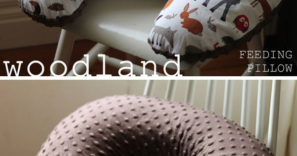 thrift. nest. sew.: DIY boppy nursing baby pillow. woodland, forest creatures, home
