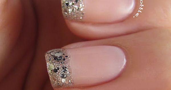 Glitter french nail idea