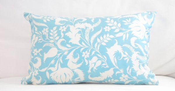 chair pillows 12x18 inch lumbar pillow blue floral decorative lumbar