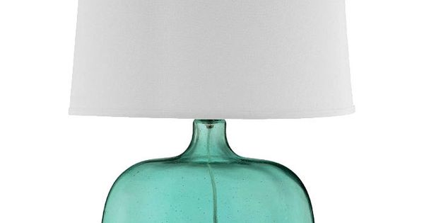 Teal Seed Glass Table Lamp. | guest room lamp. need two.