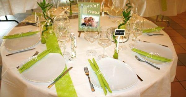 Notre mariage vert anis et blanc 6 ao t 2011 id es d co mariage pinterest - Idee de deco pour mariage ...