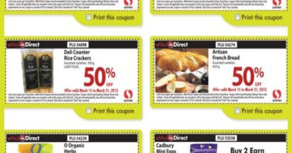 Get Grocery Discounts With Safeway Canada Coupons Coupons Canada Print Coupons Online Coupons