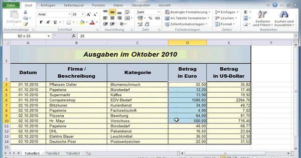 Einnahmen Ausgaben Rechnung Excel Vorlage 14 3