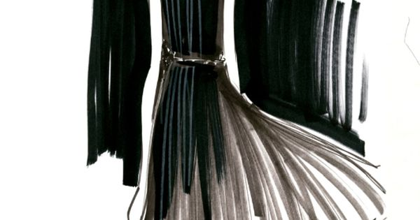 BR fashion sketch of my favorite pleated dress from the Anna Karenina