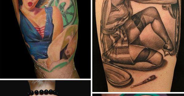 Tattoos- Pin up girls Megan or Chelsea