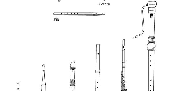 u0026quot the flute family u0026quot    drawings of instruments from the
