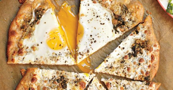 Pizza with a Sunny-Side-Up Egg and Herb Garden Pesto | Recipe | Herbs ...