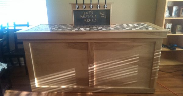 5 tap coffin keezer build home brew forums kegerator for Home bar with kegerator space