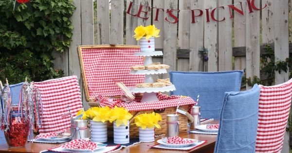 Patriotic Picnic Party Decor Ideas | Old Fashioned Church ...