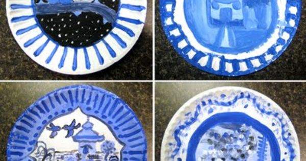 Chinese porcelain project...I just did a similar one but we drew vases