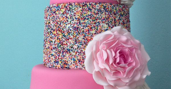"""One yr old Icing Smiles Cake - So I've see the """"sprinkles"""""""