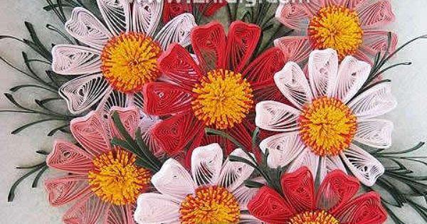 Quilled flowers | Crafts | Pinterest | Flower
