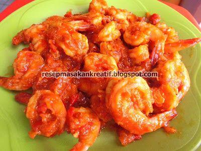 Resep Udang Asam Manis Masak Pedas Praktis Resep Udang Resep Masakan Indonesia Resep Masakan