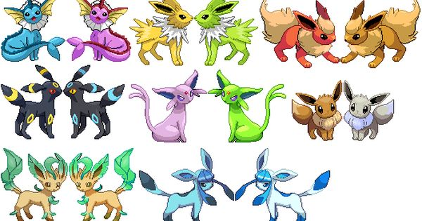 pokemon shiny eevee evolutions - Google Search | pokemon ...