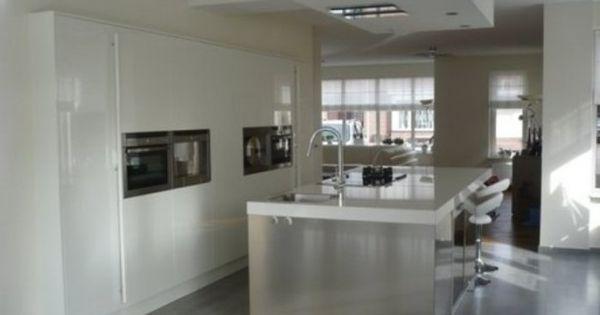 Grote kastenwand met kookeiland wooninspiratie pinterest keuken slaapkamer en doors - Grote keuken met kookeiland ...