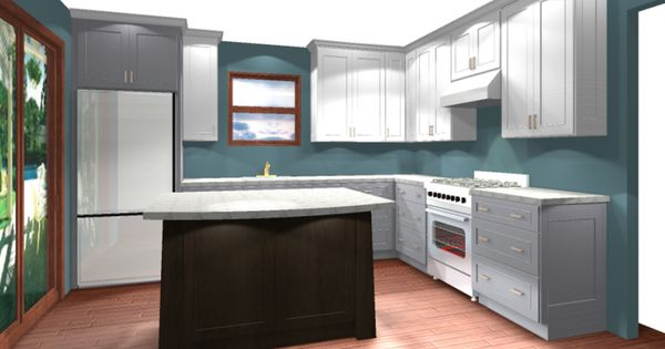 Blue gray and brown house dreams and ideas pinterest for Brown and blue kitchen ideas