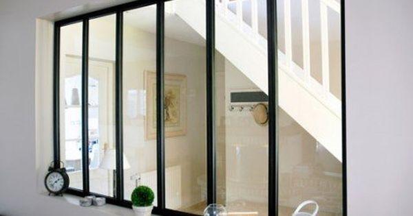 verri re d 39 int rieur atelier en kit aluminium noir 6. Black Bedroom Furniture Sets. Home Design Ideas