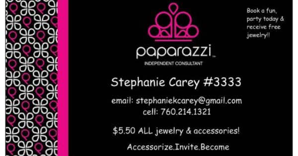Business card Paparazzi Accessories