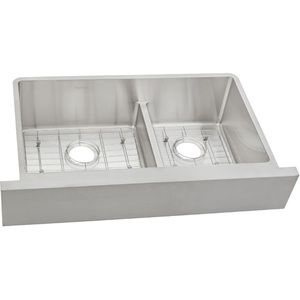 Eectraf3220rbg Crosstown Apron Front Specialty Sink Kitchen Sink Stainless Steel Elkay Apron Front Sink Sink Grids