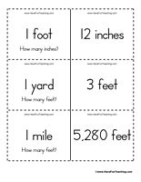 Measurement Flash Cards With Images Math Flash Cards
