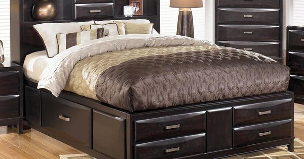 Kira queen storage bed by ashley furniture l fish for L fish furniture indianapolis
