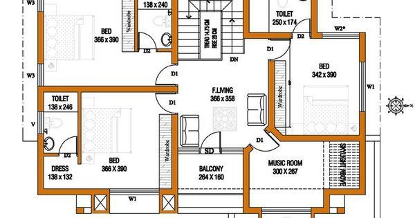 Kerala house plans estimate sq ft home design floor plans for Floor plan cost estimator