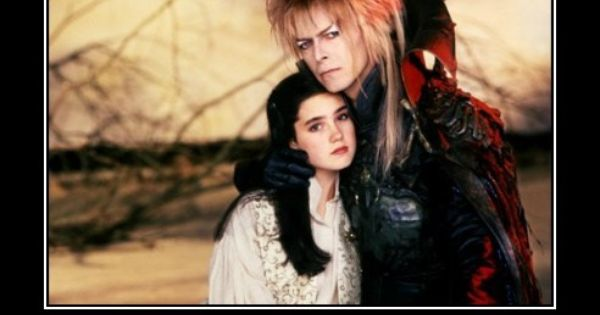 Jennifer Connelly playing as Sarah and David Bowie playing as Jareth the
