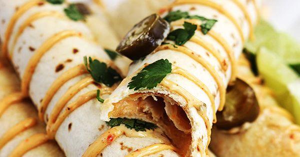 Chicken taquitos, Creamy chicken and Chipotle on Pinterest