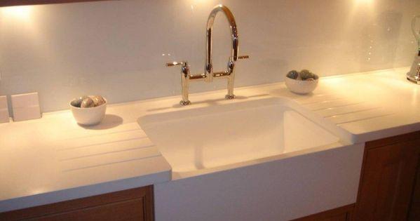 Belfast sink effect using Corian® Sinks - Photos - CDUK