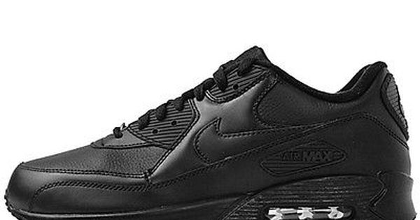 Nike Air Max 90 Leather Mens 302519 001 Black Running