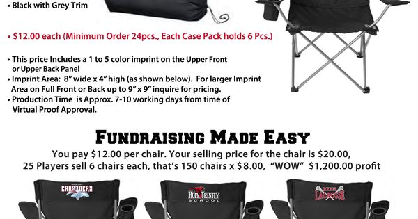 Fundraiser Idea Folding Sports Chairs With Team Logo