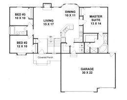 House Plans From 1400 To 1500 Square Feet Page 1 Ranch House Plans House Plans One Story Bedroom House Plans
