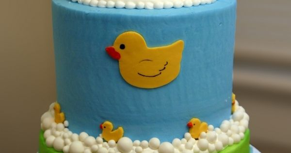 Baby Shower Cake- Rubber Ducky idea | cakes | Pinterest ...