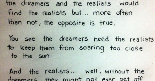 Dreamers And Realists Modern Family Quote