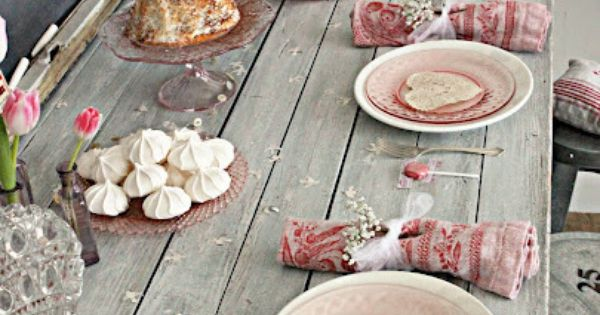 Shabby Chic Table Decor Plants And Decor Pinterest