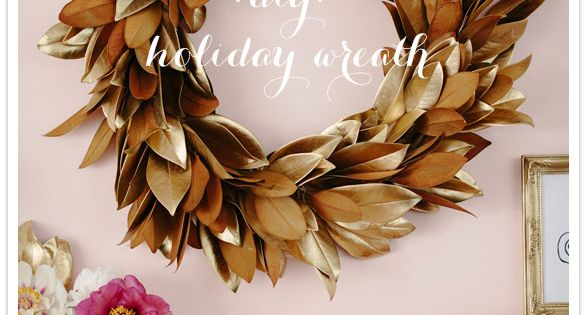 DIY Holiday wreath by Brown Paper Design | DIY Wedding, Flowers +