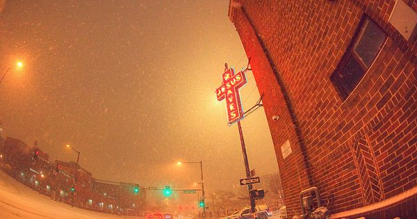 The Intersection Between The Denver Rescue Mission And The Samaritan House Shelter For The Homeless During A Blizzard Denver Mission Rescue