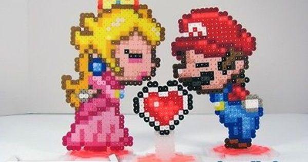 Mario Cake Using Perler Beads