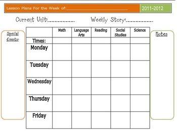 Editable Lesson Plan Template Lesson Plan Template Free Editable Lesson Plan Template Lesson Plan Templates