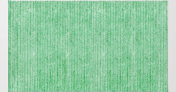 Stockinette Green Rug by Elisa Sandoval | Stockinette, Green Rugs and ...