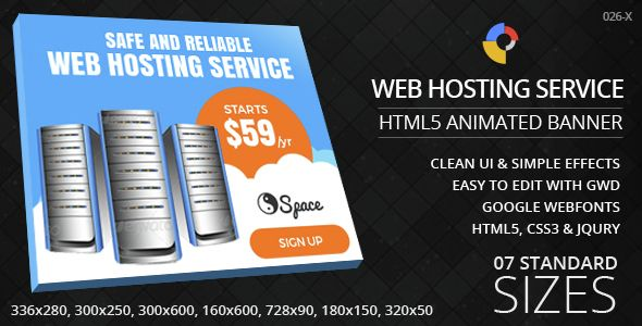 Web Hosting Html5 Ad Banners Web Design
