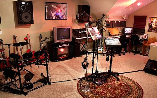 Sensational Decorating Charming Home Music Room For Your Inspiration Largest Home Design Picture Inspirations Pitcheantrous