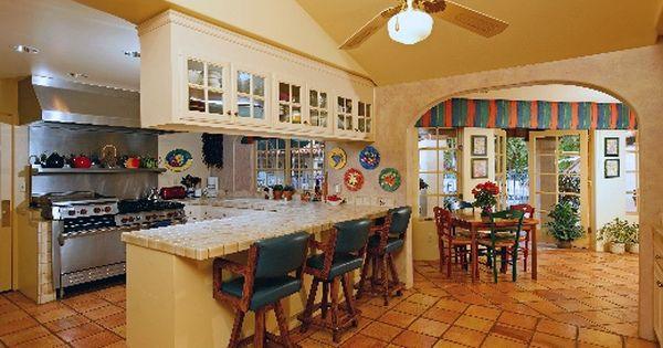Old World Spanish Style Kitchen Beautiful Hacienda Style Home Kitchen S Pinterest