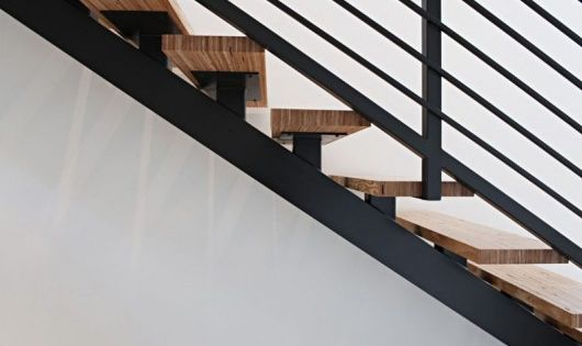 Best Garage Stairs Black Metal Wood Open Stairs Stepping On 400 x 300